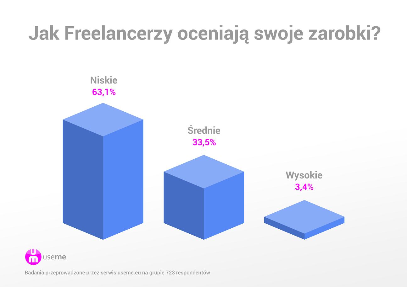 Ocena zarobków freelancerów
